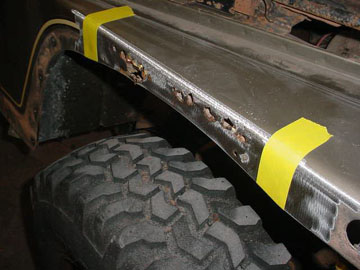Brevard County Florida Auto Body Rust Repair Welded Rust